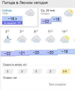 Погода 24.01.18